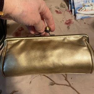 Kenneth Cole Unlisted gold Clutch with chain strap